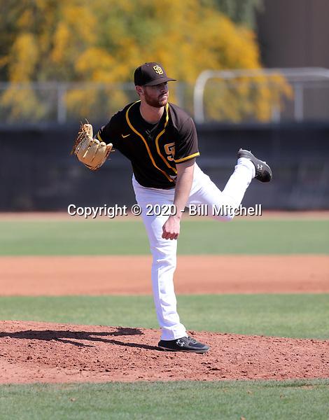 Cody Tyler - San Diego Padres 2020 spring training (Bill Mitchell)
