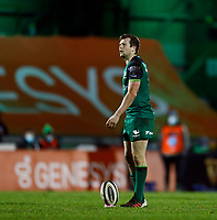 20th February 2021; Galway Sportsgrounds, Galway, Connacht, Ireland; Guinness Pro 14 Rugby, Connacht versus Cardiff Blues; Jack Carty lines up a penalty for Connacht