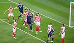 22.06.2021 Croatia v Scotland: John McGinn and Scott McTominay miss an inswinging corner kick