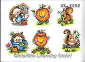 Interlitho-Theresa, CUTE ANIMALS, LUSTIGE TIERE, ANIMALITOS DIVERTIDOS, paintings+++++,6 autumn animals,KL4592,#ac#, EVERYDAY ,sticker,stickers ,autumn,harvest