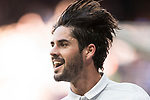 Isco Alarcon of Real Madrid celebrates during their La Liga match between Real Madrid and Deportivo Alaves at the Santiago Bernabeu Stadium on 02 April 2017 in Madrid, Spain. Photo by Diego Gonzalez Souto / Power Sport Images