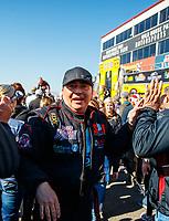 Feb 25, 2018; Chandler, AZ, USA; NHRA top fuel driver Scott Palmer during the Arizona Nationals at Wild Horse Pass Motorsports Park. Mandatory Credit: Mark J. Rebilas-USA TODAY Sports