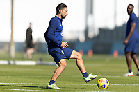 BRADENTON, FL - JANUARY 19: Sebastian Lletget passes the ball during a training session at IMG Academy on January 19, 2021 in Bradenton, Florida.