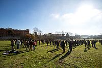 31.12.2020 - New Year's Eve Demo Outside Rebibbia Prison in Rome