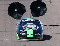 Feb 27, 2016; Chandler, AZ, USA; NHRA pro stock driver Alex Laughlin during qualifying for the Carquest Nationals at Wild Horse Pass Motorsports Park. Mandatory Credit: Mark J. Rebilas-