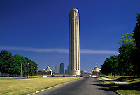 "AJ1779, Kansas City, Missouri, Liberty Memorial in Penn Valley Park, 217 foot """"Torch of Liberty"""" observation tower."