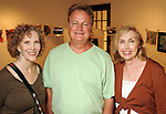 """From left: Becky Soria, Walt Hoffman and Anita Shaffer at the """"Strung Out"""" backyard barbecue at the Winter Street Studios Saturday July 24,2010.(Dave Rossman/For the Chronicle)"""