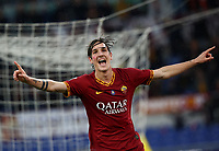 Football, Serie A: AS Roma - Brescia FC, Olympic stadium, Rome, November 24, 2019. <br /> Roma's Nicolò Zaniolo celebrates before his goal was canceled during the Italian Serie A football match between Roma and Brescia at Olympic stadium in Rome, on November 24, 2019. <br /> UPDATE IMAGES PRESS/Isabella Bonotto