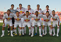 24 June2009:New York Red Bulls starting eleven during MLS action at BMO Field in Toronto, in a game between the New York Red Bulls and Toronto FC. Toronto FC won 2-0..