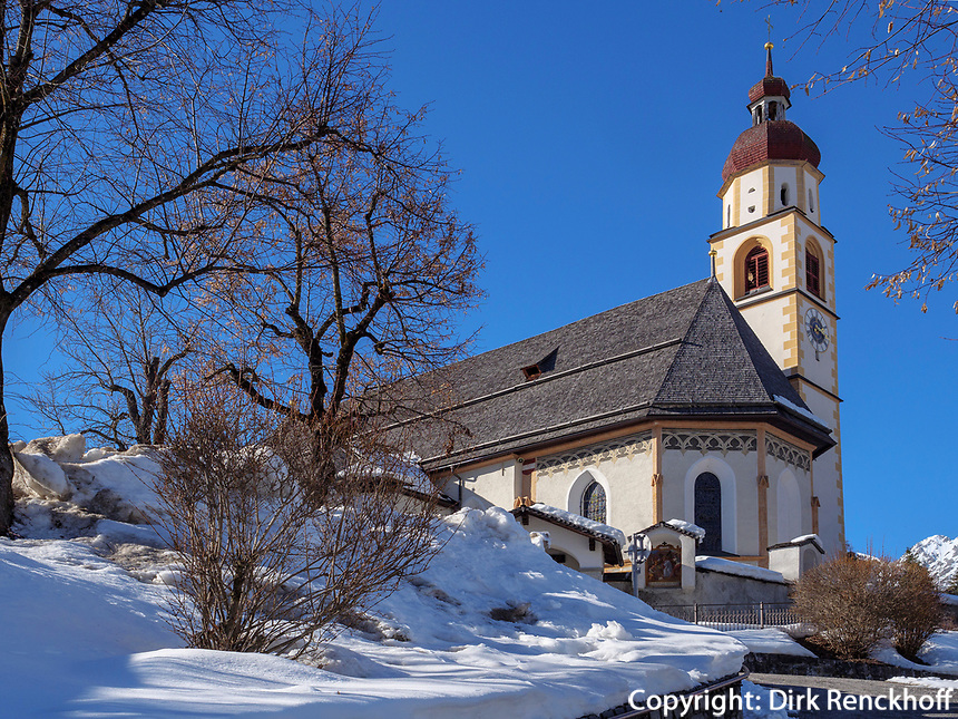Pfarrkirche von Tarrenz, Gurgltal, Bezirk Imst, Tirol, Österreich, Europa<br /> parish church of Tarrenz, district Imst, Tyrol, Austria, Europe