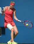Petra Kvitova (CZE) loses to Flavia Panetta (ITA) 6-4, 4-6, 6-2 at the US Open in Flushing, NY on September 9, 2015.