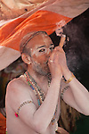 Sadhus, or holy men, frequently smoke marijuana, or ganja, as part of their spiritual rituals.