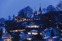 Deutschland, Hamburg, Blankenese, Süülberg im Schnee, der Süllberg ist die höchste Erhebung Hamburgs