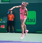 March 29 2018: Victoria Azarenka (BLR) loses to Sloane Stephens (USA) 6-3, 2-6, 1-6, at the Miami Open being played at Crandon Park Tennis Center in Miami, Key Biscayne, Florida. ©Karla Kinne/Tennisclix/CSM