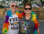 Shannon and Tanya during the Pride Parade in Reno, Nevada on Saturday, July 27, 2019.