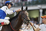 June 14, 2014: Molly Morgan and jockey Corey Lanerie win the Fleur De Lis Handicap Grade 2 $200,000 at Churchill Downs for owner Bill Cubbedge and trainer Dale Romans.  Candice Chavez/ESW/CSM