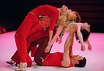 caption Sorry, do the tour !<br /> <br /> Création en mai 2001 : Kampnagel Internationale Kulturfabrik GmbH (Hambourg)<br /> <br /> Direction artistique : Marco Berrettini<br /> Danse : Marco Berrettini<br /> Jean-Paul Bourel<br /> Valérie Brau-Antony<br /> Gaëtan Bulourde<br /> Manuel Coursin<br /> Bruno Faucher<br /> Chiara Gallerani<br /> Maguelonne Marre<br /> Gianfranco Poddighe<br /> Anja Röttgerkamp<br /> Scénographie : Bruno Faucher<br /> Lumières : Bruno Faucher<br /> Musique originale : Manuel Coursin<br /> Production *Melk Prod. (Genève)<br /> Le 10/03/2003<br /> Lieu : Théâtre des Abbesses<br /> Ville : Paris