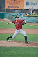 Idaho Falls Chukars starting pitcher Jon Heasley (51) delivers a pitch to the plate against the Ogden Raptors at Lindquist Field on July 2, 2018 in Ogden, Utah. The Raptors defeated the Chukars 11-7. (Stephen Smith/Four Seam Images)