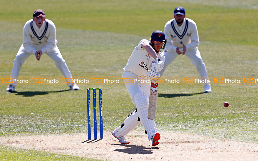 Yorkshire's Luke Wells bats during Kent CCC vs Lancashire CCC, LV Insurance County Championship Group 3 Cricket at The Spitfire Ground on 22nd April 2021