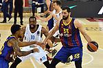 EUROLEAGUE 2020-2021. Playoffs.Game 2.<br /> FC Barcelona vs Zenit St. Petersburg: 81-78.<br /> Cory Higgins, Will Thomas & Nikola Mirotic.