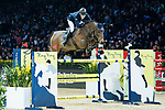 Max Kühner of Austria riding PSG Future competes in the Hong Kong Jockey Club Trophy during the Longines Masters of Hong Kong at the Asia World Expo on 09 February 2018, in Hong Kong, Hong Kong. Photo by Diego Gonzalez / Power Sport Images