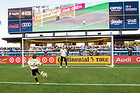 SAN JOSE, CA - SEPTEMBER 4: Matt Bersano #12 of the San Jose Earthquakes before a game between Colorado Rapids and San Jose Earthquakes at PayPal Park on September 4, 2021 in San Jose, California.