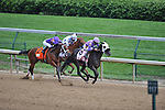 Victoria's Wildcat, ridden Kent Desormeaux, wins the Eight Belles Stakes at Churchill Downs in Louisville, Kentucky on May 6, 2011.