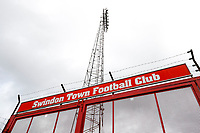 10th October 2020; The County Ground, Swindon, Wiltshire, England; English Football League One; Main gates of Swindon Town