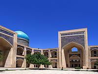 Mir-Arab Medrese, Buchara, Usbekistan, Asien, UNESCO-Weltkulturerbe<br /> Mir Arab Madrasa, Historic City of Bukhara, Uzbekistan, Asia, UNESCO Heritage Site