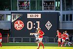 Der Spielstand beim Spiel in der 3. Liga, 1. FC Kaiserslautern - SV Waldhof Mannheim.<br /> <br /> Foto © PIX-Sportfotos *** Foto ist honorarpflichtig! *** Auf Anfrage in hoeherer Qualitaet/Aufloesung. Belegexemplar erbeten. Veroeffentlichung ausschliesslich fuer journalistisch-publizistische Zwecke. For editorial use only. DFL regulations prohibit any use of photographs as image sequences and/or quasi-video.