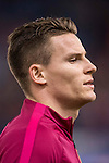 Kevin Gameiro of Atletico de Madrid in training prior to the La Liga match between Atletico de Madrid and RCD Espanyol at the Vicente Calderón Stadium on 03 November 2016 in Madrid, Spain. Photo by Diego Gonzalez Souto / Power Sport Images