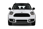 Car photography straight front view of a 2017 MINI Countryman - 5 Door Hatchback Front View