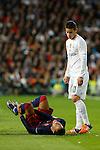 Real Madrid´s James and Barcelona´s Neymar Jr during 2015-16 La Liga match between Real Madrid and Barcelona at Santiago Bernabeu stadium in Madrid, Spain. November 21, 2015. (ALTERPHOTOS/Victor Blanco)
