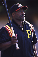 Pittsburgh Pirates Manager Lloyd McClendon during a 2001 season MLB game at Dodger Stadium in Los Angeles, California. (Larry Goren/Four Seam Images)