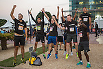 Participants in action during the Bloomberg Square Mile Relay on 3 February 2016 in Dubai,   United Arab Emirates. Photo by Adrian Chitic / Power Sport Images