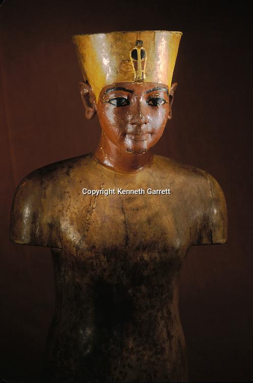 King Tutankhamun; Egypt; New Kingdom; Tutankhamun; Valley of the Kings; Tut; Tomb; Tut Manniken, Wooden Torso; Egyptian Museum