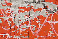 AVAILABLE FOR LICENSING FROM GETTY IMAGES.  Please go to www.gettyimages.com and search for image # 131288192.<br /> <br /> <br /> Detail of Graffiti and Peeling Paint on a Wall, Chinatown, New York City, New York State, USA..