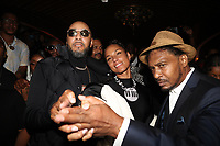 NEW YORK, NY- SEPTEMBER 12: Swizz Beatz, Alicia Keys and Super Cat pictured at Swizz Beatz Surprise Birthday Party at Little Sister in New York City on September 12, 2021. Credit: Walik Goshorn/MediaPunch