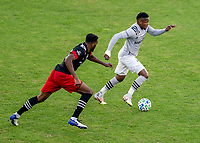 WASHINGTON, DC - NOVEMBER 8: Romell Quioto #30 of the Montreal Impact dribbles during a game between Montreal Impact and D.C. United at Audi Field on November 8, 2020 in Washington, DC.