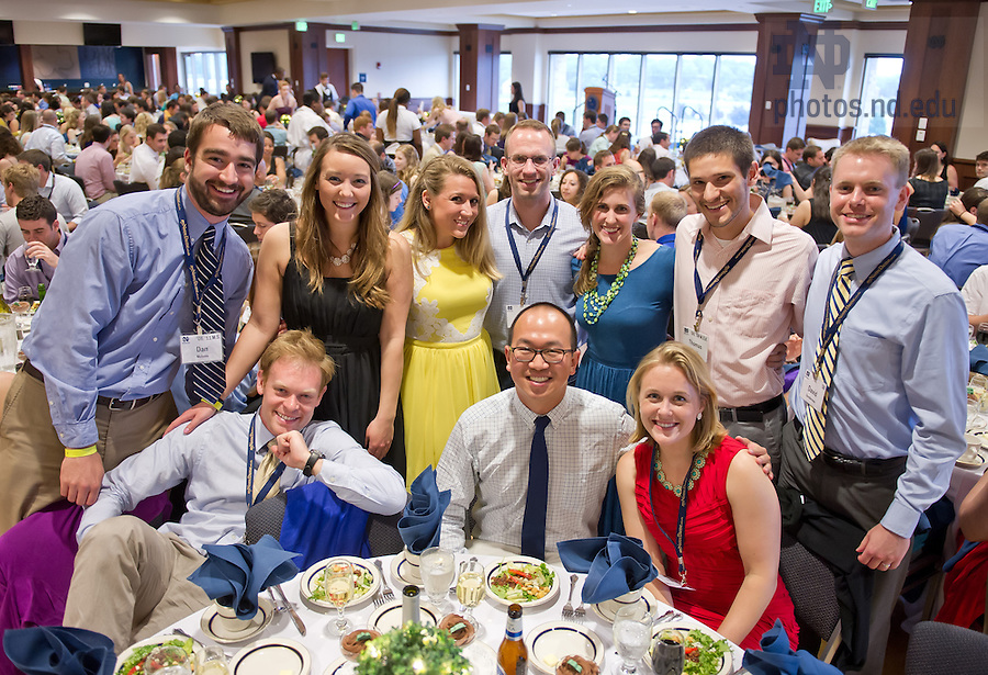 May 31, 2013; 2013 Reunion: Class of 2008 dinner.<br /> <br /> Photo by Matt Cashore/University of Notre Dame