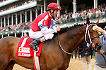May 2, 2014: Moonshine Mullin (inside) with Calvin Borel holds off Golden Ticket to win the Grade 2 Alysheba Stakes, 4-year olds  up, going 1 1/16 at Churchill Downs. Trainer: Randy L. Morse. Owner: Randy Patterson. Sue Kawczynski/ESW/CSM