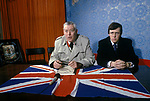 Ian Paisley Peter Robinson Newtownards for Loyalist Day of Action  Northern Ireland The Troubles 1980s 1981 UK