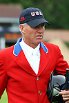Equestrian - Showjumping - Meydan FEI Nations Cup. Rich Fellers (USA) who rides Flexible in the Meydan FEI Nations Cup at the Royal Dublin Society (RDS) in Dublin.
