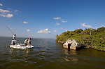 A BOAT OF ANGLERS IN BOCA PAILA MEXICO