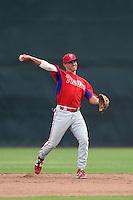 Philadelphia Phillies KC Serna (13) during a minor league spring training intrasquad game on March 27, 2015 at the Carpenter Complex in Clearwater, Florida.  (Mike Janes/Four Seam Images)