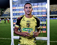 BARRANCABERMEJA - COLOMBIA, 03-11-2020: Macnelly Torres de Alianza Petrolera es el jugador del partido Alianza Petrolera y Patriotas Boyaca F. C., de la fecha 17 por la Liga BetPlay DIMAYOR 2020 en el estadio Daniel Villa Zapata en la ciudad de Barrancabermeja. / Macnelly Torres of Alianza Alianza Petrolera is the player of a match between Alianza Petrolera and Patriotas Boyaca F. C., of the 17th date for the BetPlay DIMAYOR League 2020 at the Daniel Villa Zapata stadium in Barrancabermeja city. Photo: VizzorImage  / Jose D. Martinez / Cont.