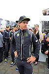 Peter Sagan (SVK) Tinkoff-Saxo at the Team Presentations in Compiegne before the 2015 Paris-Roubaix cycle race held over the cobbled roads of Northern France. 11th April 2015.<br /> Photo: Eoin Clarke www.newsfile.ie
