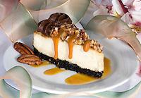 Pecan Cheesecake with Chocolate Icin