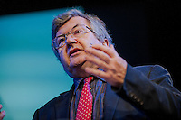 Thursday  29 May 2014, Hay on Wye, UK<br /> Pictured: Richard Evans lectures on the history of conspiracy theories at the Hay Festival<br /> Re: The Hay Festival, Hay on Wye, Powys, Wales UK.