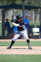 Chicago White Sox first baseman Corey Zangari (25) at bat during an Instructional League game against the Kansas City Royals at Camelback Ranch on September 25, 2018 in Glendale, Arizona. (Zachary Lucy/Four Seam Images)
